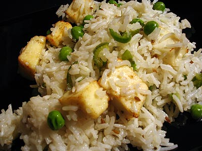 Rice with Paneer and Peas