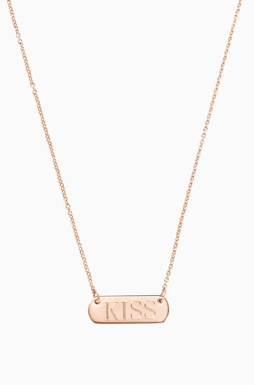 Signature Engravable Bar Necklace