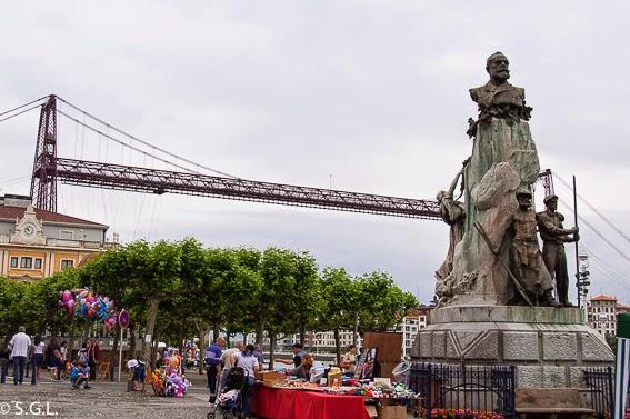 El puente colgante desde Portugalete. El puente de Vizcaya, el mejor puente colgante