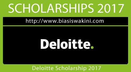 Deloitte Scholarship 2017