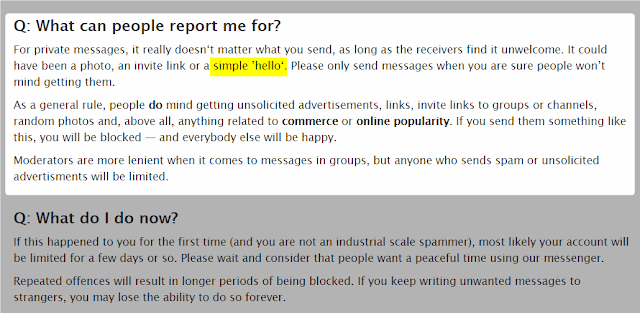 yang mereport spam akun telegram