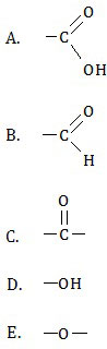 gugus fungsi senyawa karbon , asam karboksilat , aldehid , keton , alkohol , eter