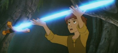 Magic sword Black Cauldron 1985 animatedfilmreviews.blogspot.com