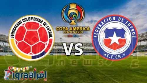 """بالأسماء.. التشكيل الرسمى لمنتخبي كولومبيا وتشيلى في نصف نهائى """"كوبا أمريكا 2016"""""""