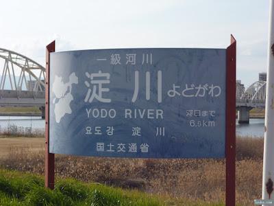 淀川の看板