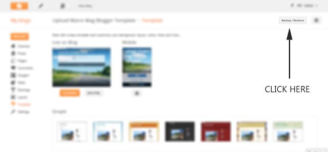 Cara Install Template Blogger