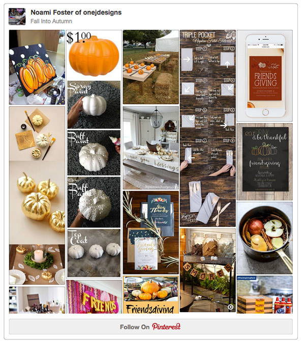 Fall Into Autumn friendsgiving pinterest board