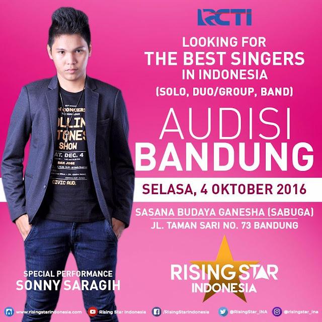 Audisi  Rising Star Indonesia di Kota Bandung