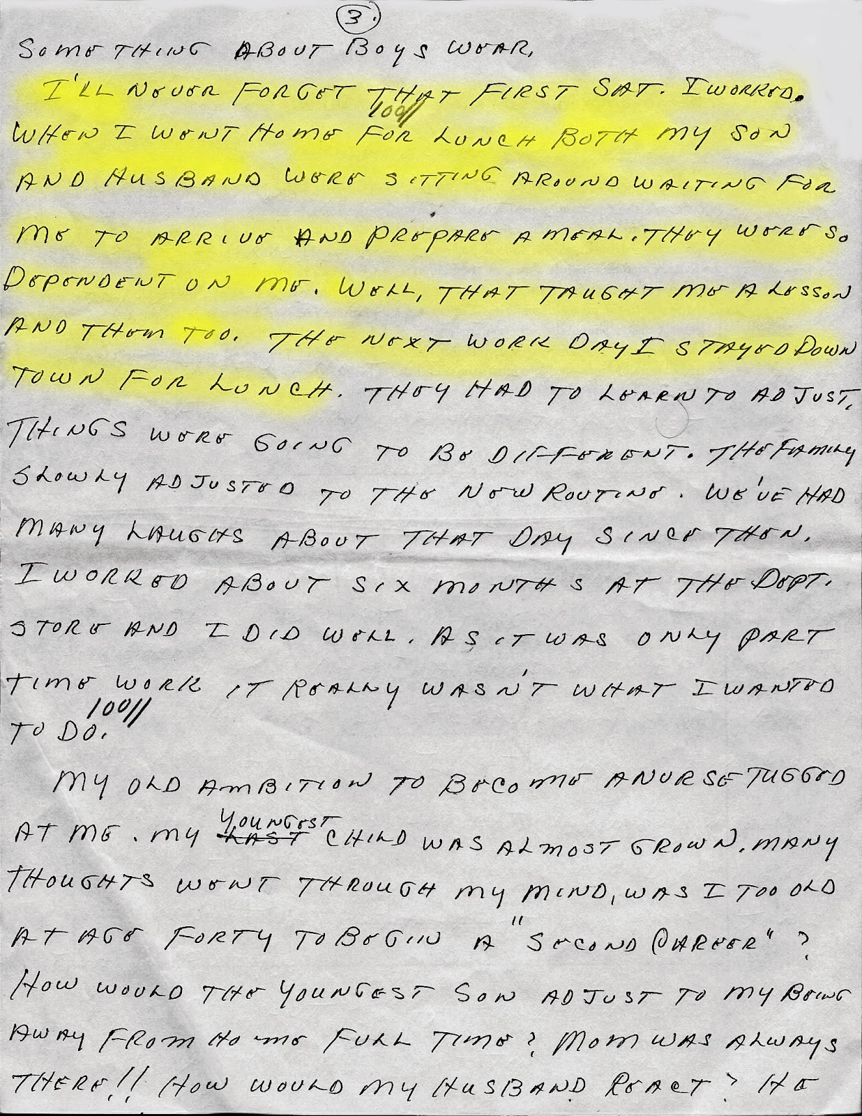 chuckography i m in a great gene pool this is page 3 of a short essay my mother wrote 30 1976 it was about 1 200 words