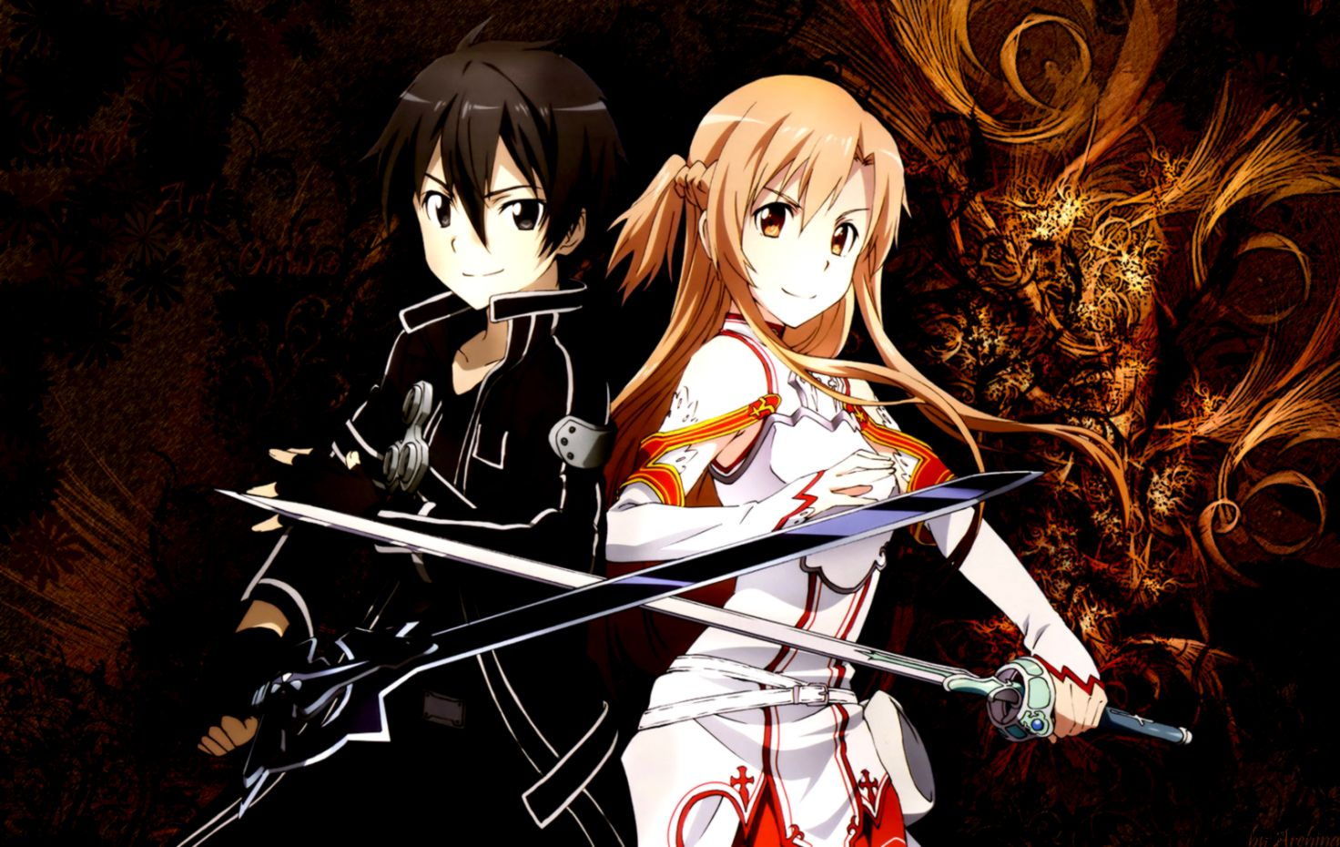 Sword Art Online Painting Art Kirito Asuna Wallpapers Wallpapers