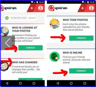 تطبيق qmiran لمعرفة بروفايلك الفيس