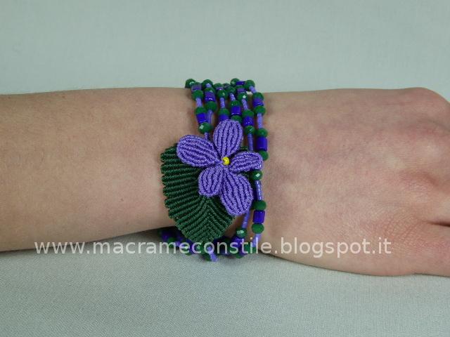 MACRAME violetta bracciale