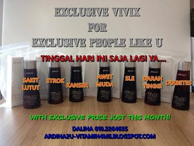 Promosi JULAI : Vivix Shaklee dan Fungsi