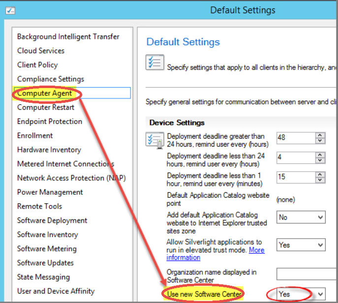how to open sccm software center