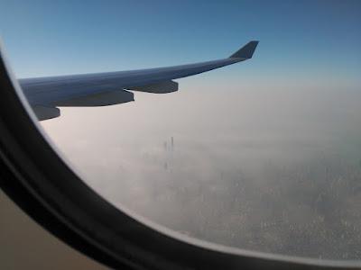 skyline shanghai vista aérea contaminación