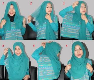 Contoh model hijab paris segi empat terbaru