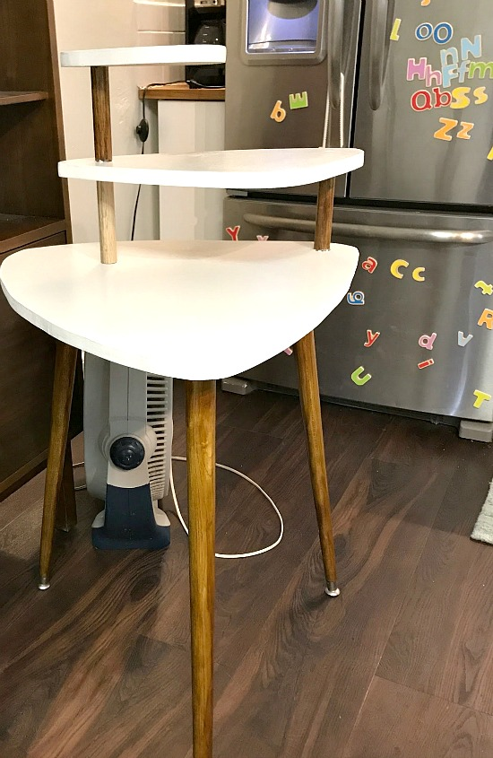 mid century modern painted side table