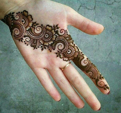 Simple Arabic Mehndi Designs For Right Hand