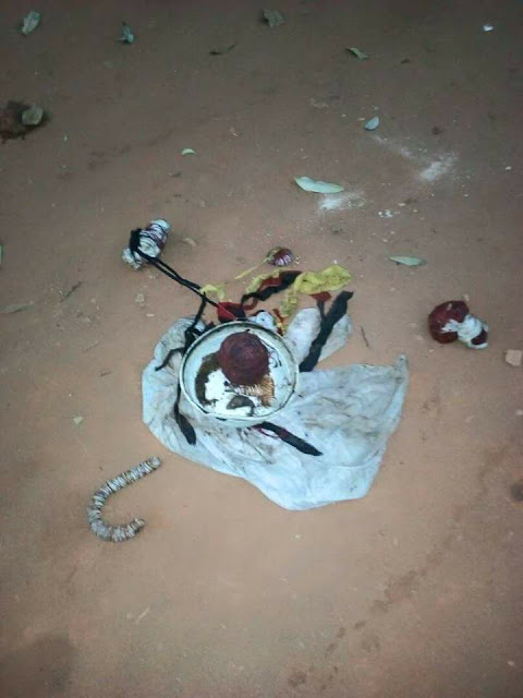#Vote and Die : 'JUJU' placed in Front of polling Unit in Anambra [PHOTOS]
