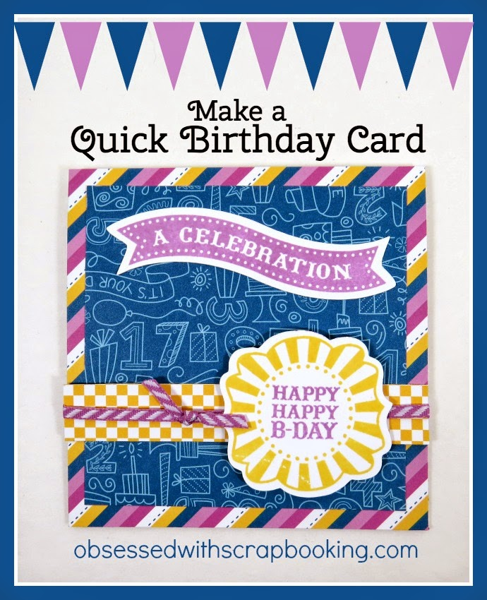 Obsessed With Scrapbooking VideoCricut Artiste QUICK Birthday Card