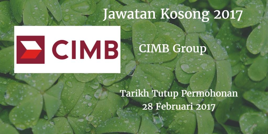 Jawatan Kosong CIMB Group 28 Februari 2017