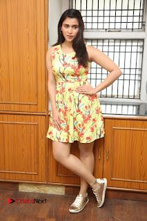 Actress Mannara Chopra Pictures in Floral Short Dress at Jakkanna Movie Interview  0176