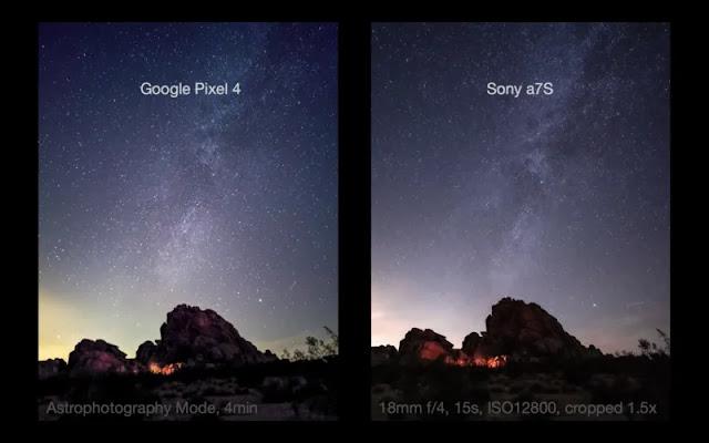 Google Pixel 4 XL: Testata la modalità Astro