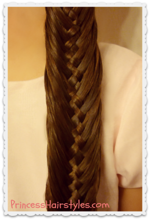 [Celebrity Hairstyles] Woven Fishtail Braid Hairstyle ...