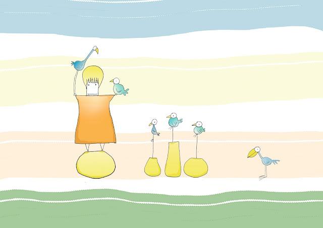 uccelli in vaso
