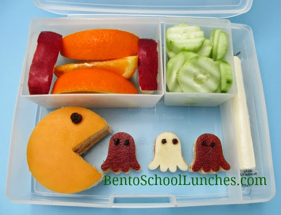 Pac-Man bento school lunch