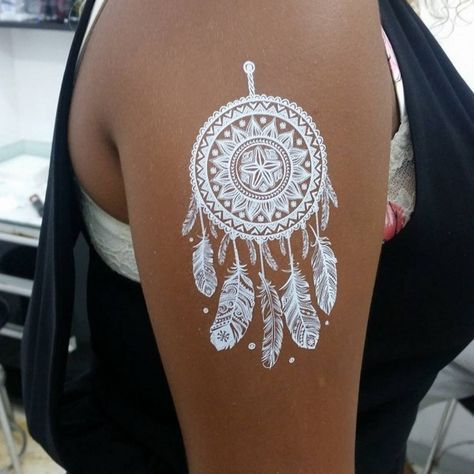 Feathers White Ink Tattoos