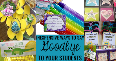 Image of inexpensive ways to say goodbye to students at the end of the school year.