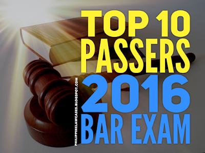 2016 BAR EXAM RESULTS