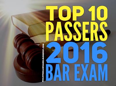 2016 BAR EXAM RESULTS