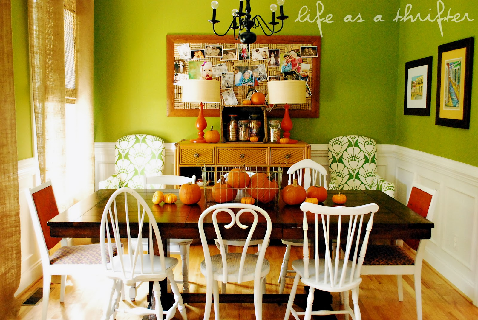 Life As A Thrifter: A Simple Fall Dining Room