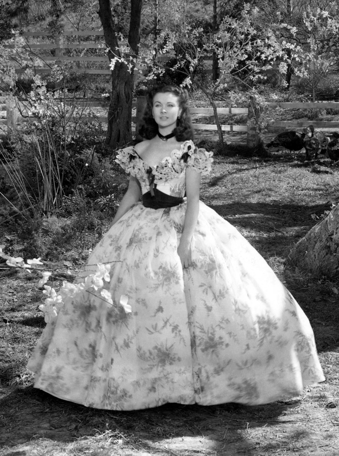 The costumes of gone with wind scarlett s barbecue dress