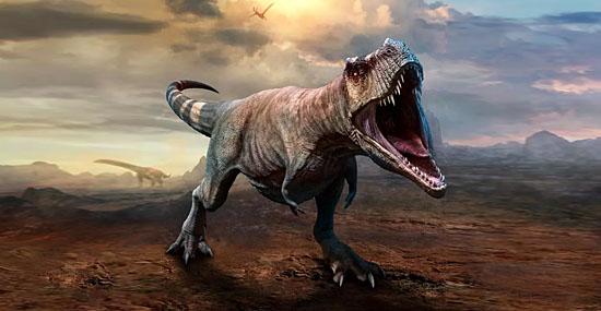 Tiranossauro Rex não podia colocar a língua para fora