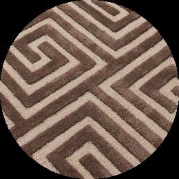 clé grec tapis tuftés main en laine, en forme de coupe en boucle