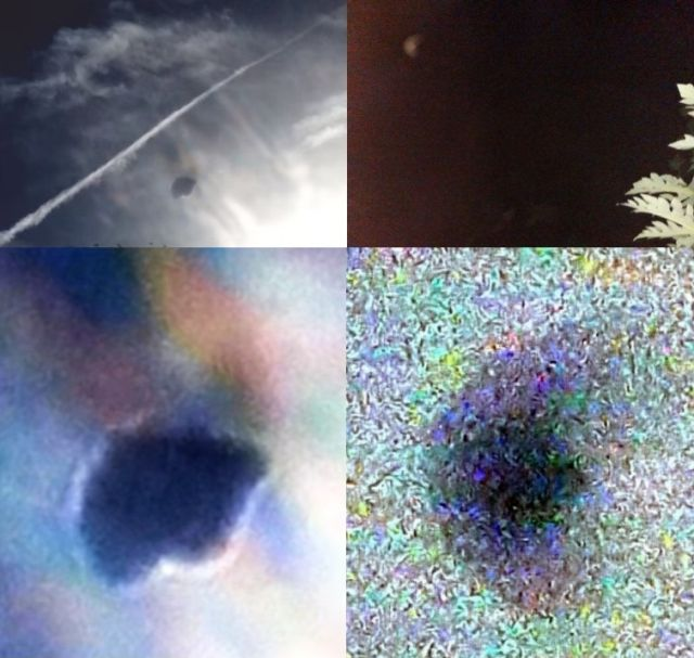 Image left shows the Long Island UFO - Image right shows the Lautoka, Fiji UFO