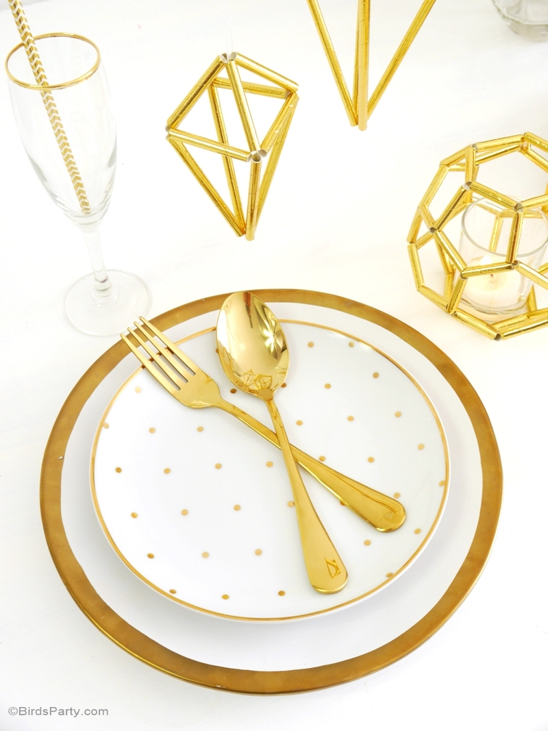 DIY Geometric Himmeli Party Decor - BirdsParty.com