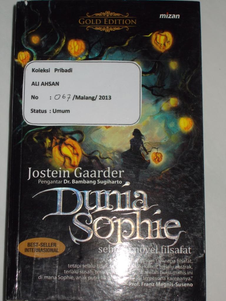 Ali Ahsan Hellobook Resensi Novel Dunia Sophie