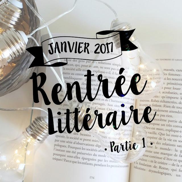 Rentrée littéraire Janvier 2017 : les 13 livres que j'ai repéré - Partie 1