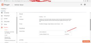 setting domain tanpa www di blogspot