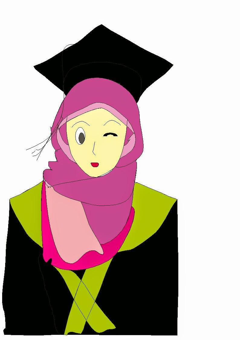 Top Gambar Kartun Muslimah Wisuda Top Gambar
