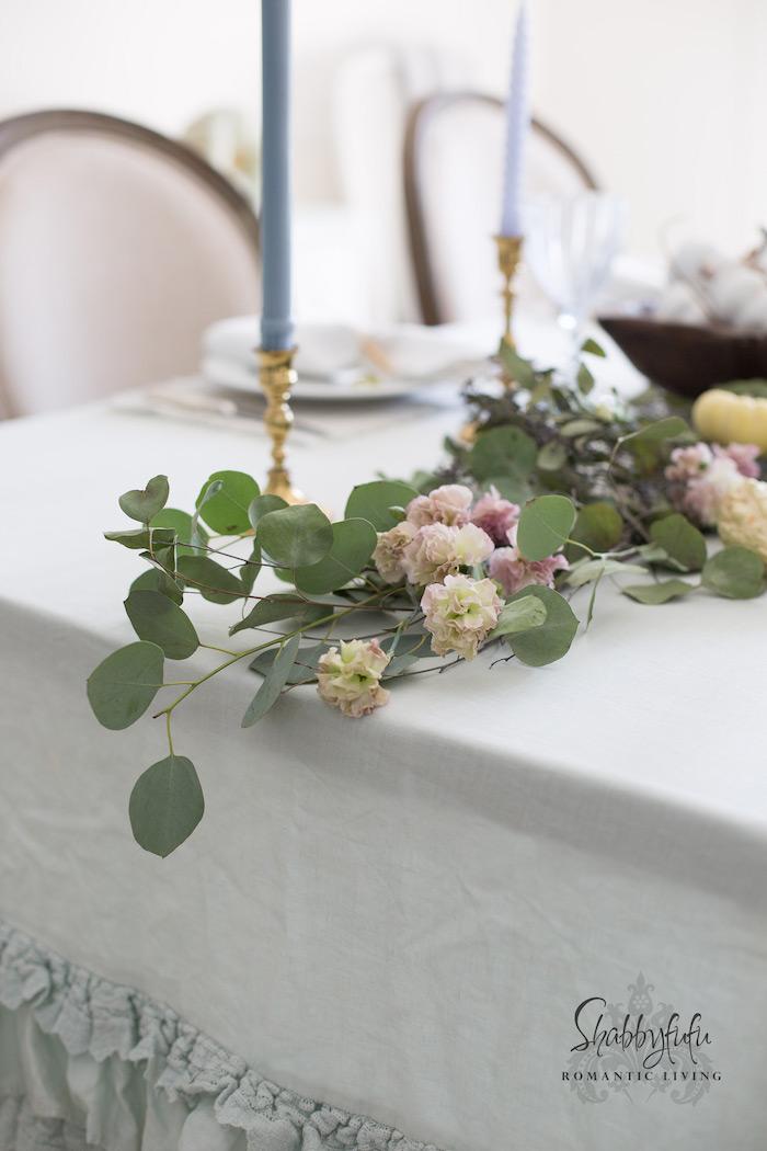eucalyptus table garland