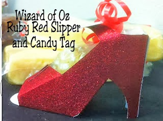 Wizard of Oz Ruby Red Slipper and Printable Tag