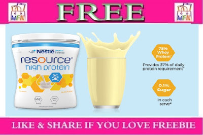 Free Sample of Nestle Resource High Protein