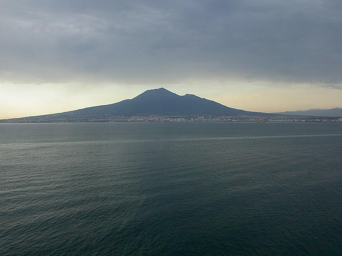 le Vesuve depuis la côte Amalfitaine