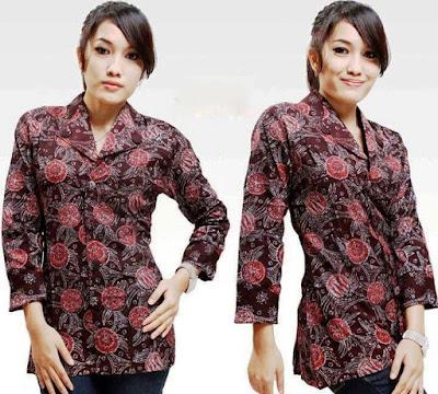 Desain Baju Batik Baru