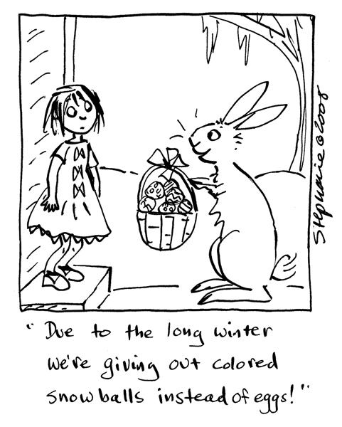 Stephanie Piro's Cartoon Blog: Happy Easter Bunnies
